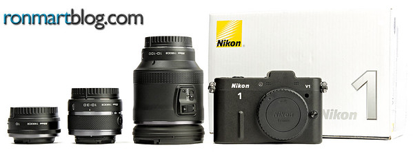 Nikon V1 with 10mm, 10-30mm and 10-100mm lenses