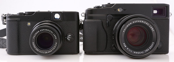 Fujifilm X10 (left) and X-Pro1 (right)